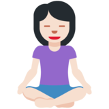 Woman in Lotus Position: Light Skin Tone on Twitter Twemoji 12.1.3