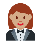 Woman in Tuxedo: Medium Skin Tone on Twitter Twemoji 12.1.3