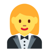 Woman in Tuxedo on Twitter Twemoji 12.1.3