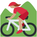 Woman Mountain Biking: Medium Skin Tone on Twitter Twemoji 12.1.3