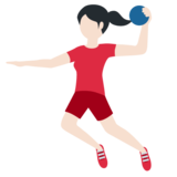 Woman Playing Handball: Light Skin Tone on Twitter Twemoji 12.1.3