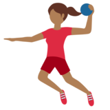 Woman Playing Handball: Medium-Dark Skin Tone on Twitter Twemoji 12.1.3