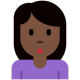 Woman Pouting: Dark Skin Tone on Twitter Twemoji 12.1.3