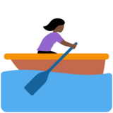 Woman Rowing Boat: Dark Skin Tone on Twitter Twemoji 12.1.3