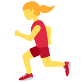 Woman Running on Twitter Twemoji 12.1.3