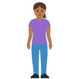 Woman Standing: Medium-Dark Skin Tone on Twitter Twemoji 12.1.3