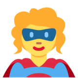 Woman Superhero on Twitter Twemoji 12.1.3