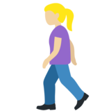 Woman Walking: Medium-Light Skin Tone on Twitter Twemoji 12.1.3