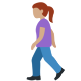 Woman Walking: Medium Skin Tone on Twitter Twemoji 12.1.3