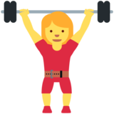 Woman Lifting Weights on Twitter Twemoji 12.1.3