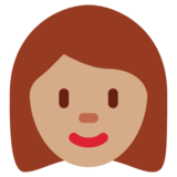 Woman: Medium Skin Tone on Twitter Twemoji 12.1.3