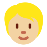 Person: Medium-Light Skin Tone on Twitter Twemoji 12.1.4
