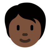 Person: Dark Skin Tone on Twitter Twemoji 12.1.4