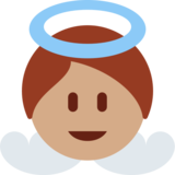 Baby Angel: Medium Skin Tone on Twitter Twemoji 12.1.4