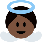 Baby Angel: Dark Skin Tone on Twitter Twemoji 12.1.4