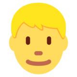 Man: Blond Hair on Twitter Twemoji 12.1.4