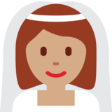Person With Veil: Medium Skin Tone on Twitter Twemoji 12.1.4