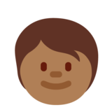 Child: Medium-Dark Skin Tone on Twitter Twemoji 12.1.4