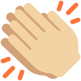 Clapping Hands: Medium-Light Skin Tone on Twitter Twemoji 12.1.4