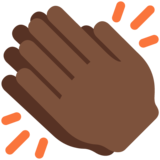 Clapping Hands: Dark Skin Tone on Twitter Twemoji 12.1.4