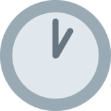 One O'Clock on Twitter Twemoji 12.1.4