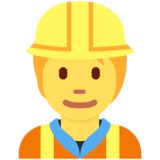 Construction Worker on Twitter Twemoji 12.1.4