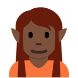 Elf: Dark Skin Tone on Twitter Twemoji 12.1.4