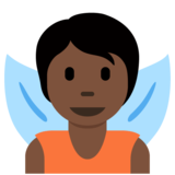 Fairy: Dark Skin Tone on Twitter Twemoji 12.1.4