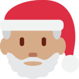 Santa Claus: Medium Skin Tone on Twitter Twemoji 12.1.4