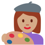 Woman Artist: Medium Skin Tone on Twitter Twemoji 12.1.4