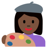 Woman Artist: Dark Skin Tone on Twitter Twemoji 12.1.4