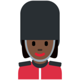 Woman Guard: Dark Skin Tone on Twitter Twemoji 12.1.4