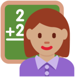 Woman Teacher: Medium Skin Tone on Twitter Twemoji 12.1.4