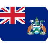 Flag: Ascension Island on Twitter Twemoji 12.1.4