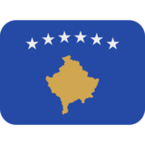 Flag: Kosovo on Twitter Twemoji 12.1.4