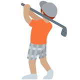 Person Golfing: Medium Skin Tone on Twitter Twemoji 12.1.4