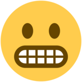 Grimacing Face on Twitter Twemoji 12.1.4