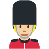Guard: Medium-Light Skin Tone on Twitter Twemoji 12.1.4