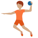 Person Playing Handball: Medium Skin Tone on Twitter Twemoji 12.1.4