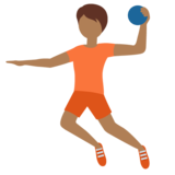 Person Playing Handball: Medium-Dark Skin Tone on Twitter Twemoji 12.1.4