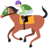 Horse Racing: Light Skin Tone on Twitter Twemoji 12.1.4