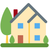 House With Garden on Twitter Twemoji 12.1.4