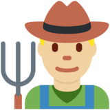 Man Farmer: Medium-Light Skin Tone on Twitter Twemoji 12.1.4