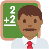 Man Teacher: Medium-Dark Skin Tone on Twitter Twemoji 12.1.4