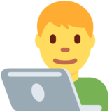 Man Technologist on Twitter Twemoji 12.1.4