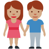 Woman and Man Holding Hands: Medium Skin Tone on Twitter Twemoji 12.1.4