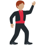 Man Dancing: Medium Skin Tone on Twitter Twemoji 12.1.4