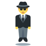 Person in Suit Levitating on Twitter Twemoji 12.1.4
