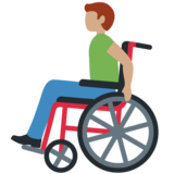 Man in Manual Wheelchair: Medium Skin Tone on Twitter Twemoji 12.1.4