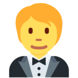 Person in Tuxedo on Twitter Twemoji 12.1.4